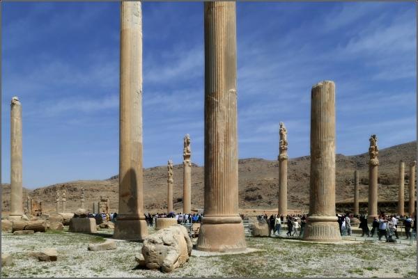 iran, persepolis, terrace, apadana, columns