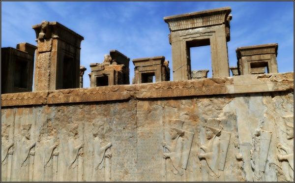 iran, persepolis, palace of darius, bas-reliefs