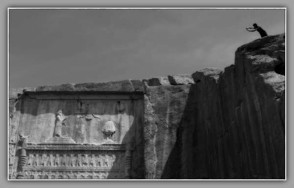iran, persepolis, hillside, tomb, photographer
