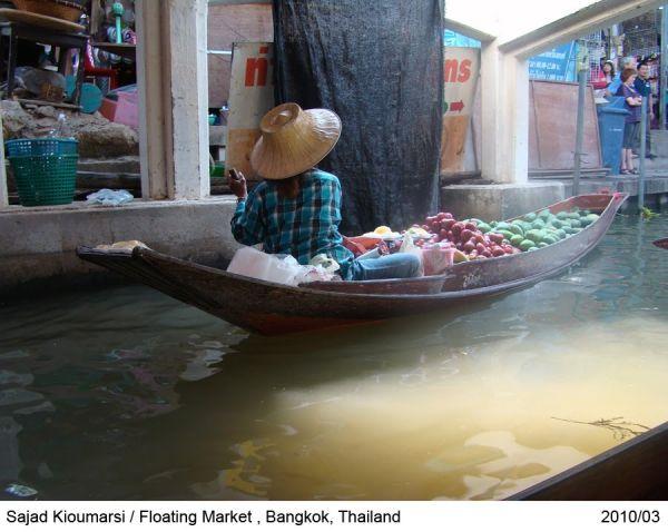 Thailand , bangkok , floating market ,seller woman