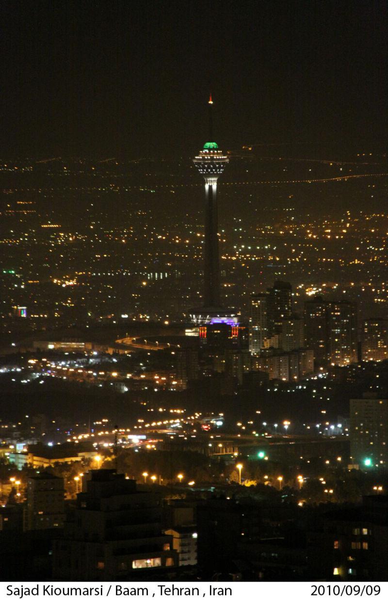 Baam Tehran Milad بام تهران برج میلاد توچال