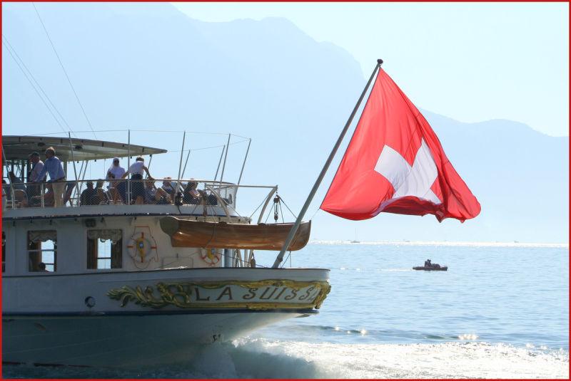 lake Geneva ship Switzerland