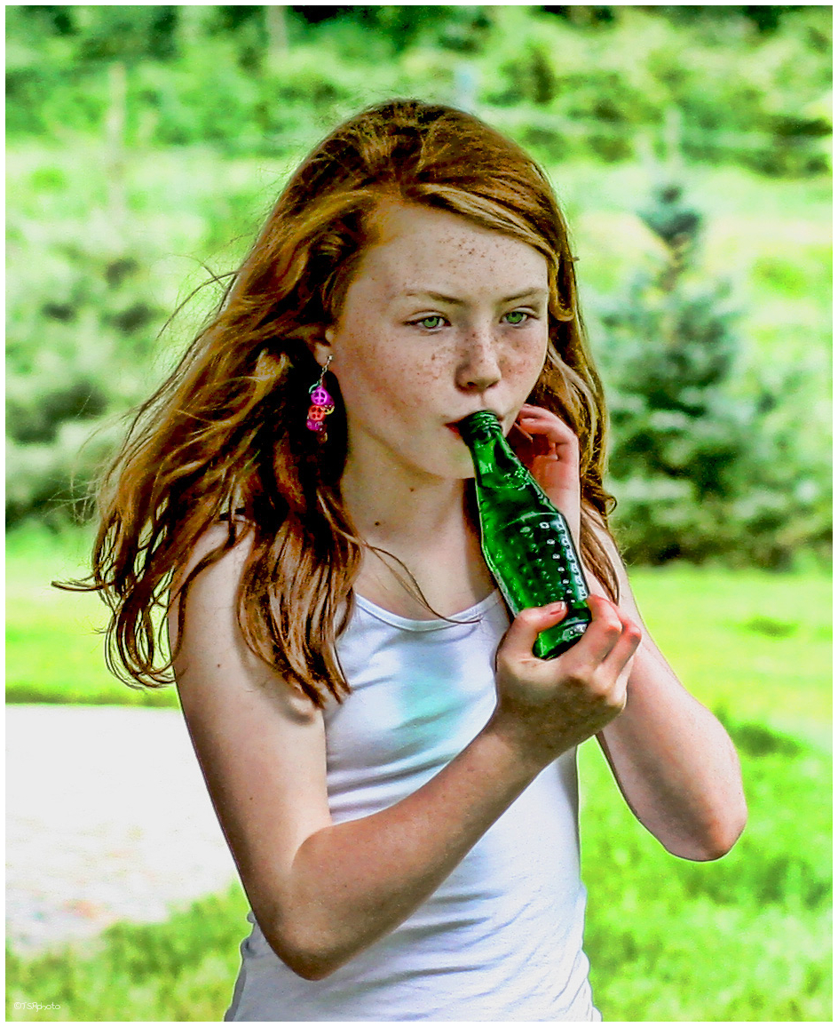 Irish Girl With A Bottle - People  Portrait Photos -7845