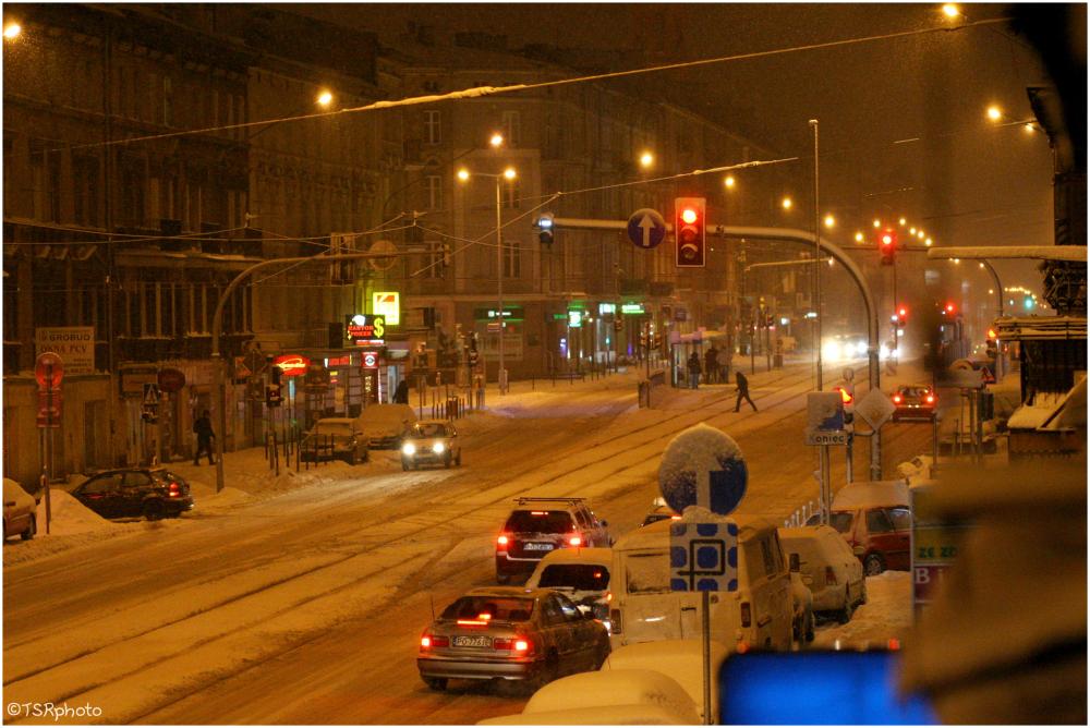Winter in the night