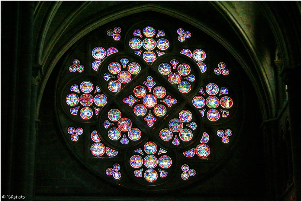 Rose window inside