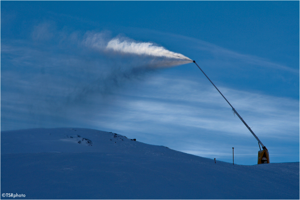 snow machine blue sky