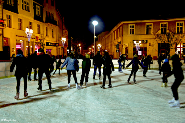 Skaters in the street