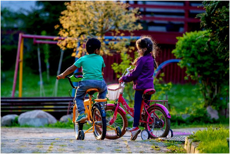 Happy children - Young Bikers