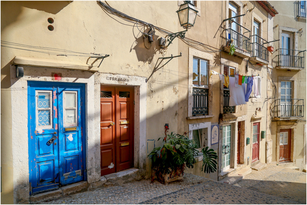 Along streets of Lisbon