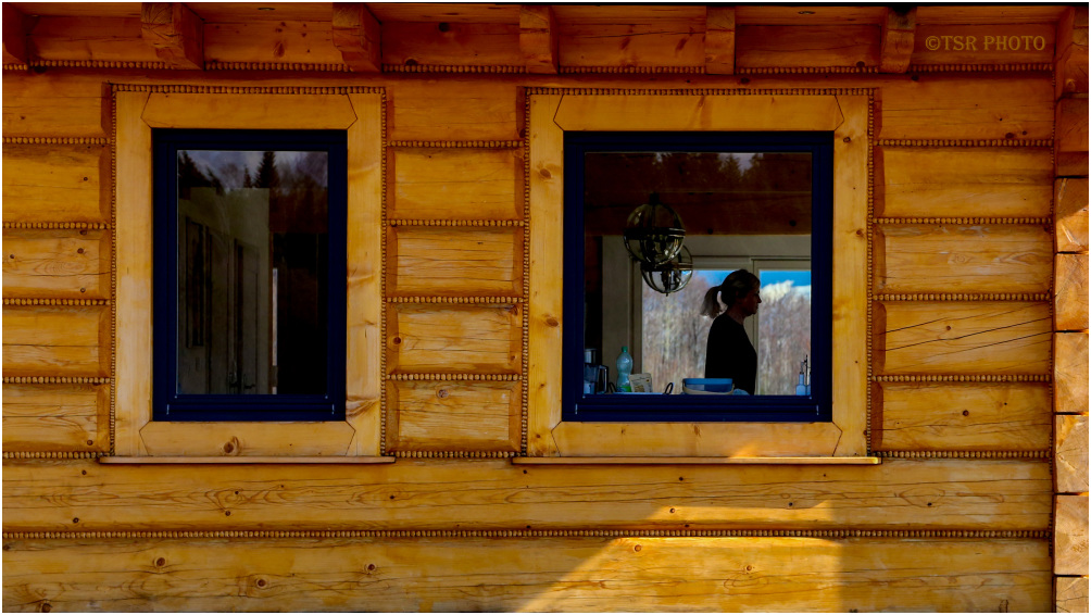 Girl and Two Windows