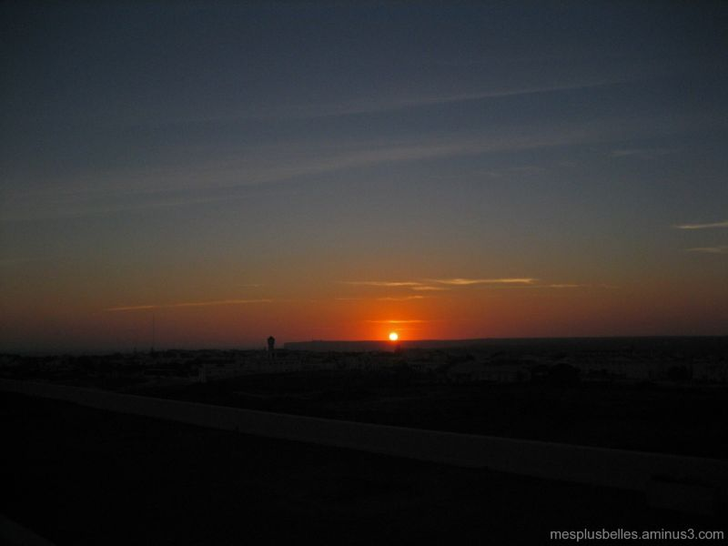 coucher de soleil sur Sagres, Portugal