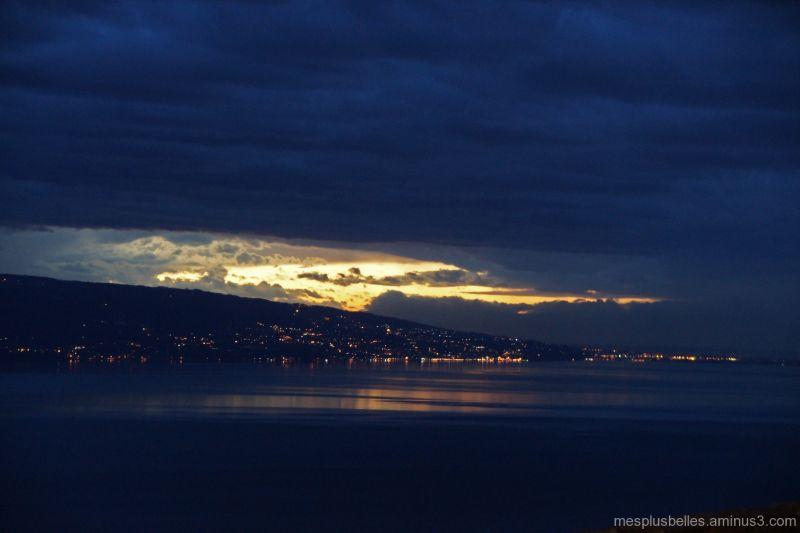coucher de soleil... sur Evian