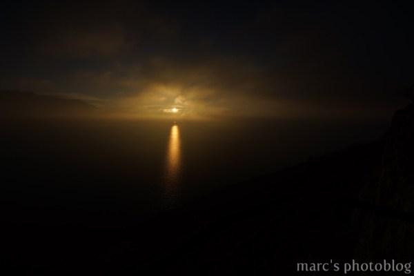 coucher de soleil sur le Léman