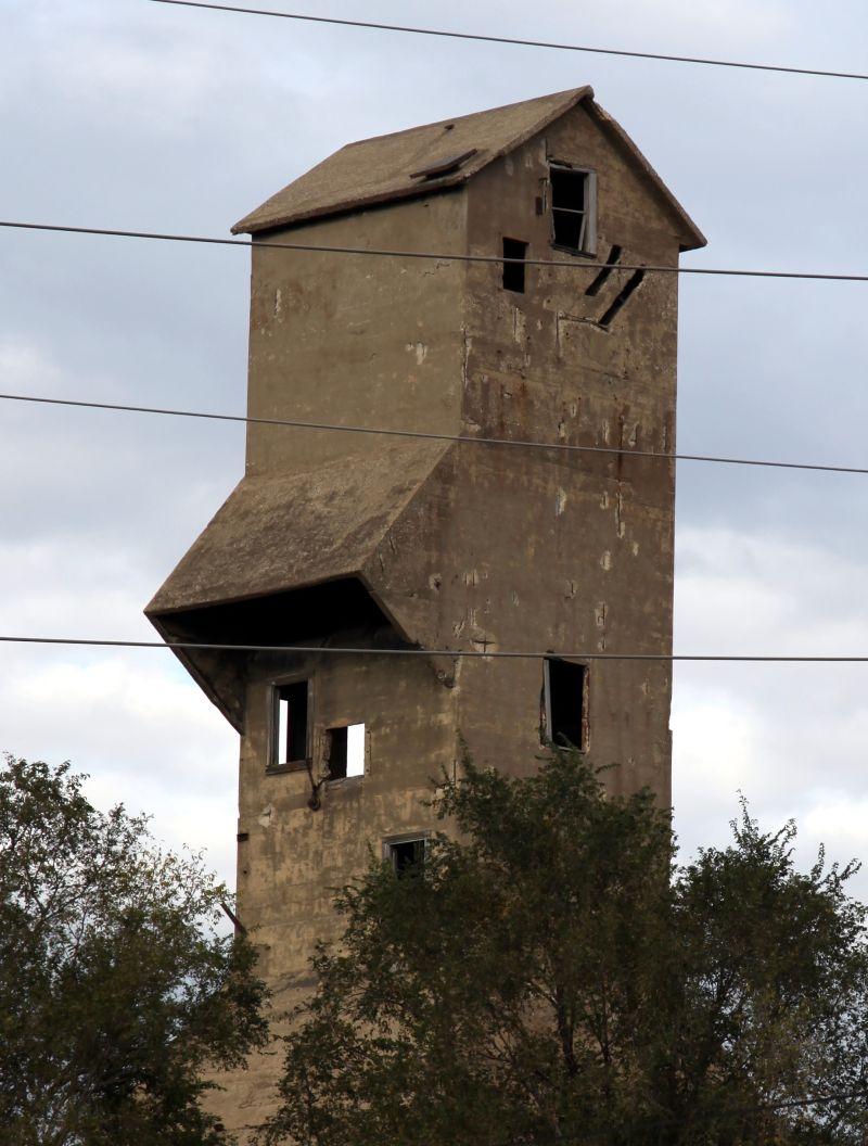 Old Concrete Grain Elevator in Council
