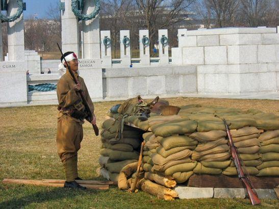 Display at World War II Memorial