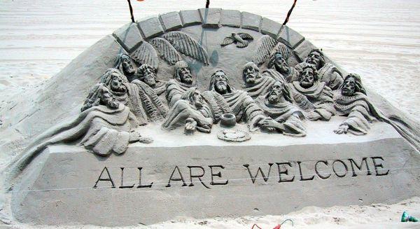 Beach sculpture, Ocean City, VA