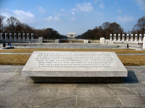 Long View of Lincoln Memorial