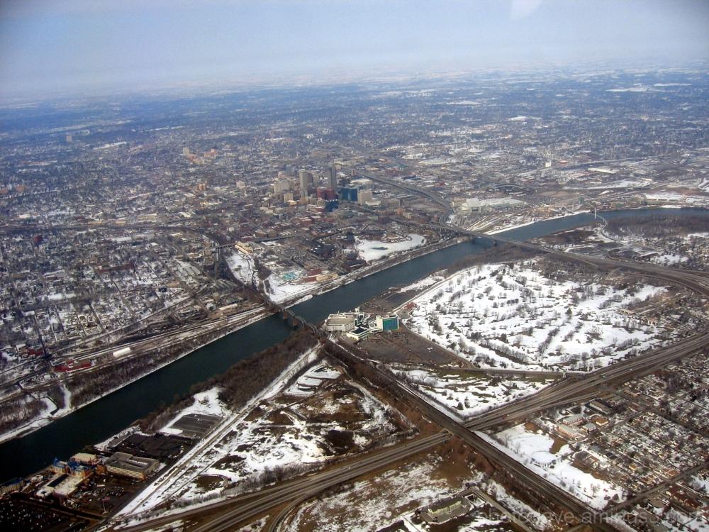 Omaha Council Bluffs By Air