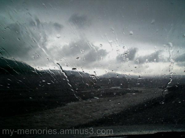 Road and Rain