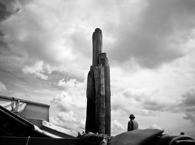 The strange wooden totem