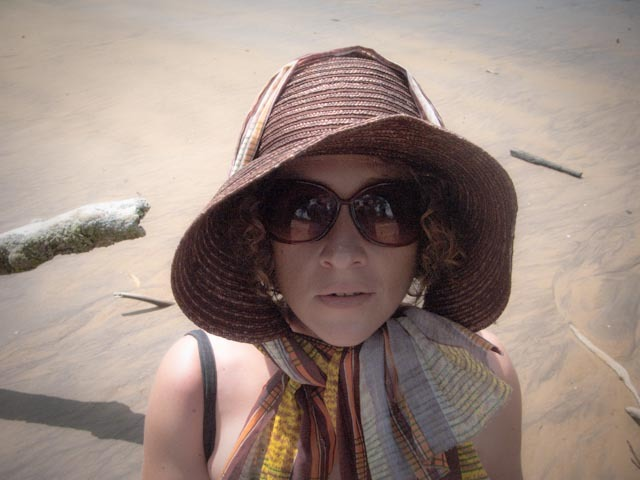 La dame de la plage