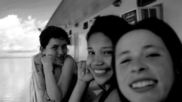 Selfie sobre el rio Amazona con mi camera