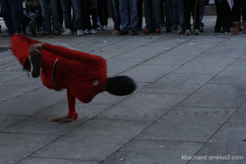 Breakdancer in Boston's Faneuill Hall