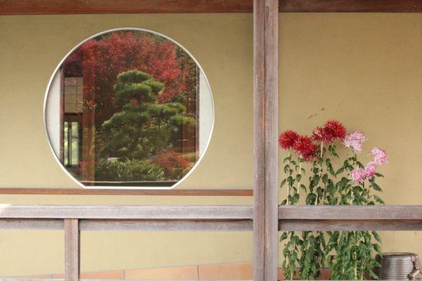 Wall at Japanese tea house, Daisen Park, Osaka