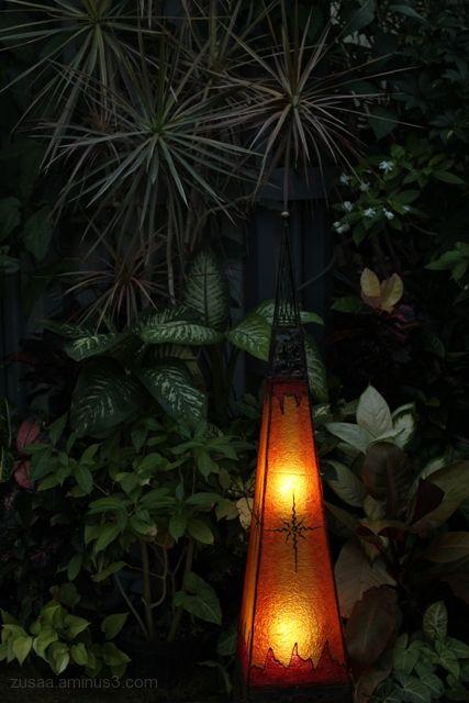 Lantern & green