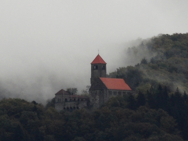 Wachenburg  in the clouds