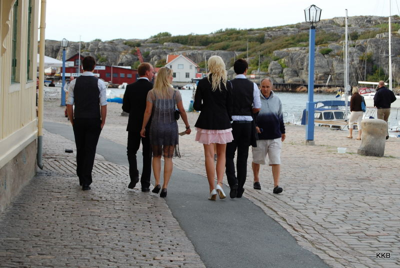 On their way to the wedding