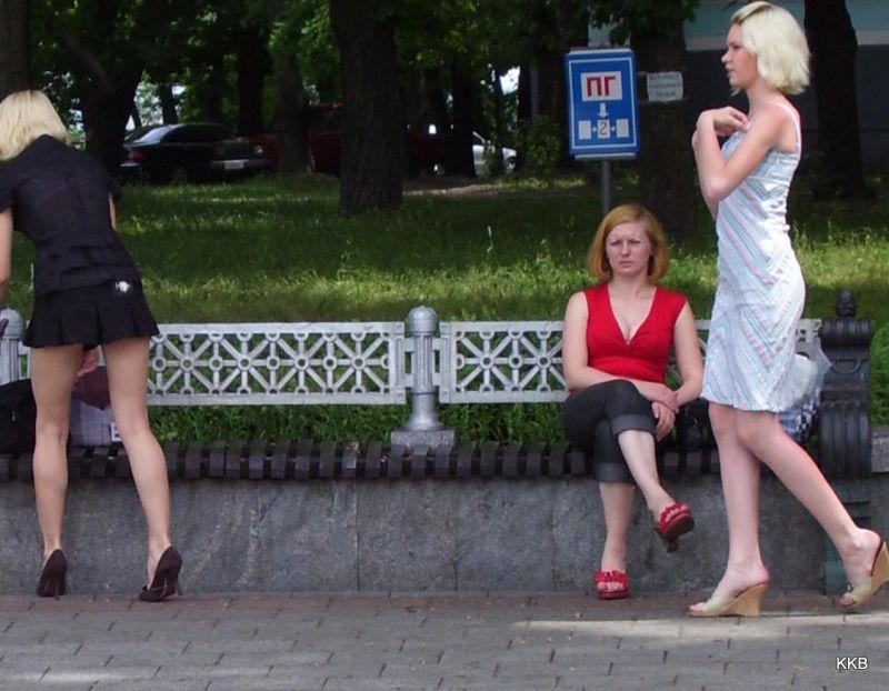 Young women in Kiev, Ukraïna