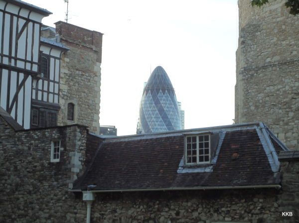 Tower of London; old and new come together