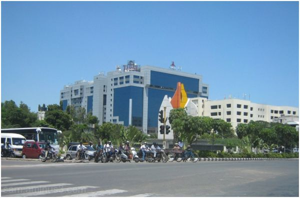 Buildings along OMR Chennai