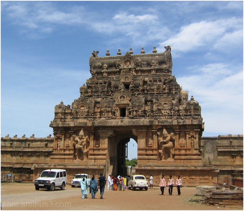 Thanjavur Big Temple Entrance Gopuram
