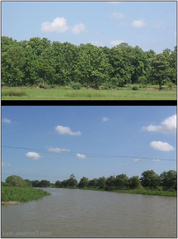 Canal in rural village