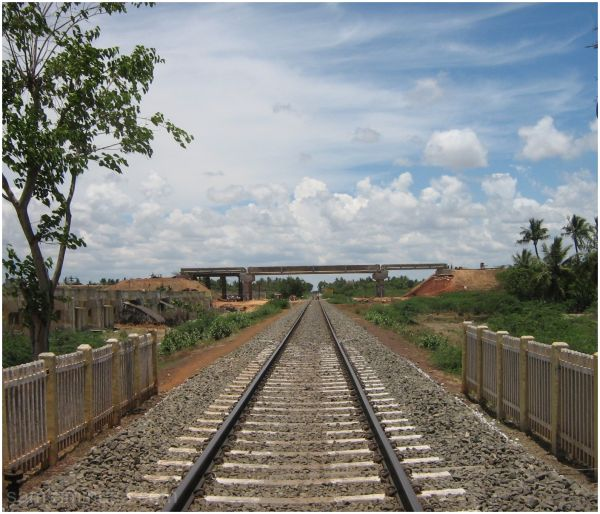 Railway tracks in south India