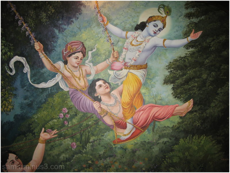 Lord Krishna and Friends