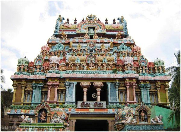 Thiruvanaikkaval Temple  Gopuram