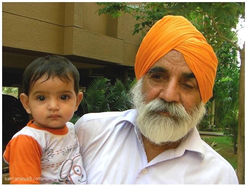 Child and Grandpa