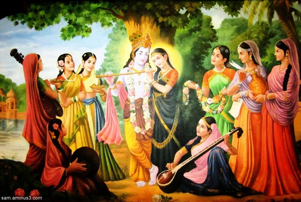 Radha-Krishna painting