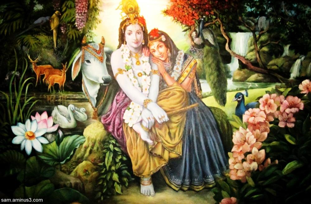 Krishna in Brindavan