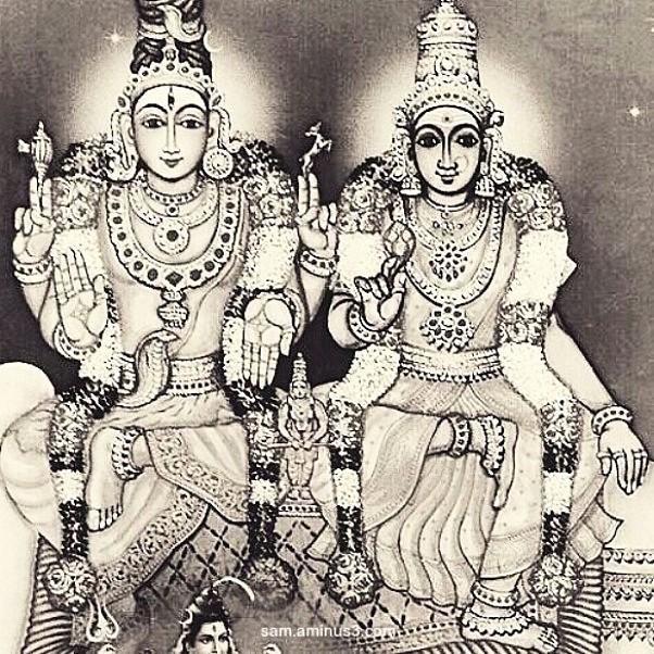 Shiva and  Parvathi