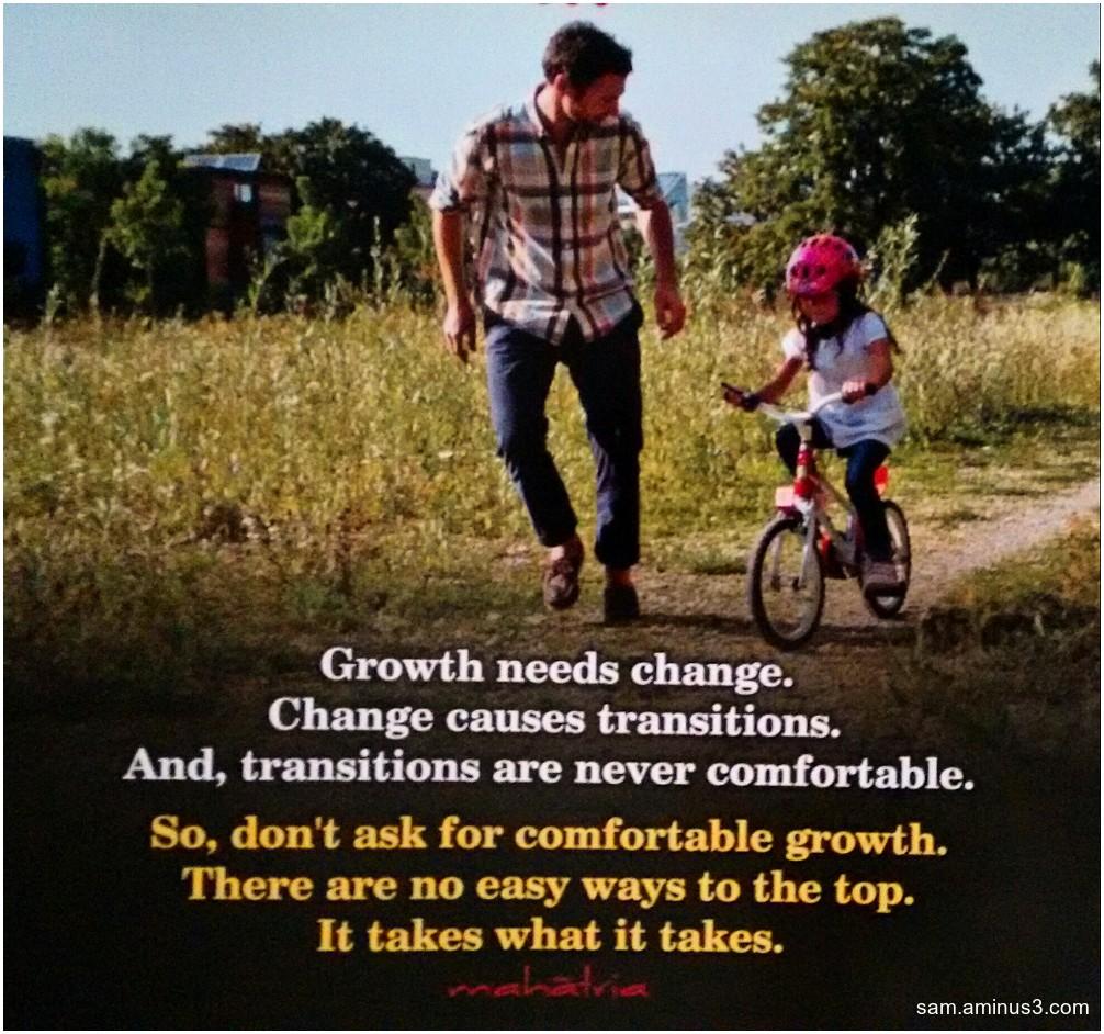Growth needs change