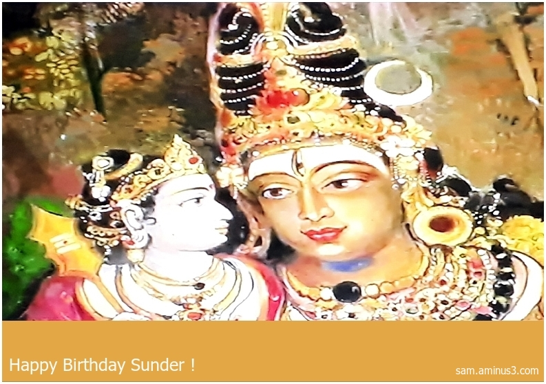 Happy Birthday Sunder