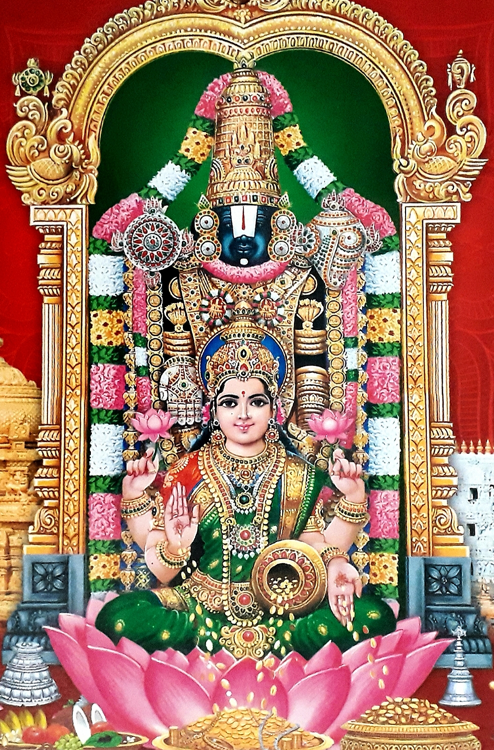 Lord Balaji and Goddess Lakshmi