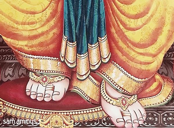 At the Feet