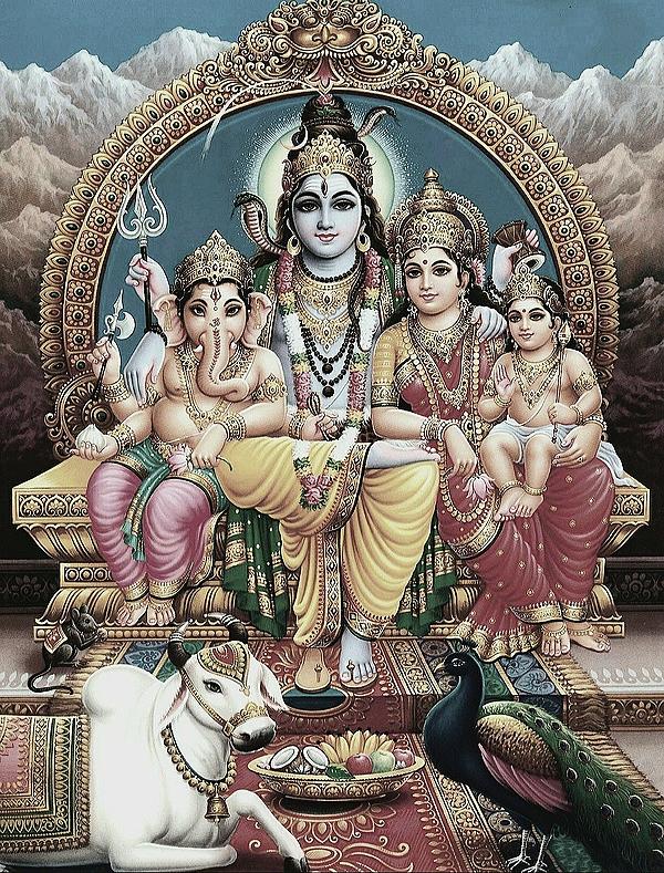 Lord Shiva, Parvathi & Family