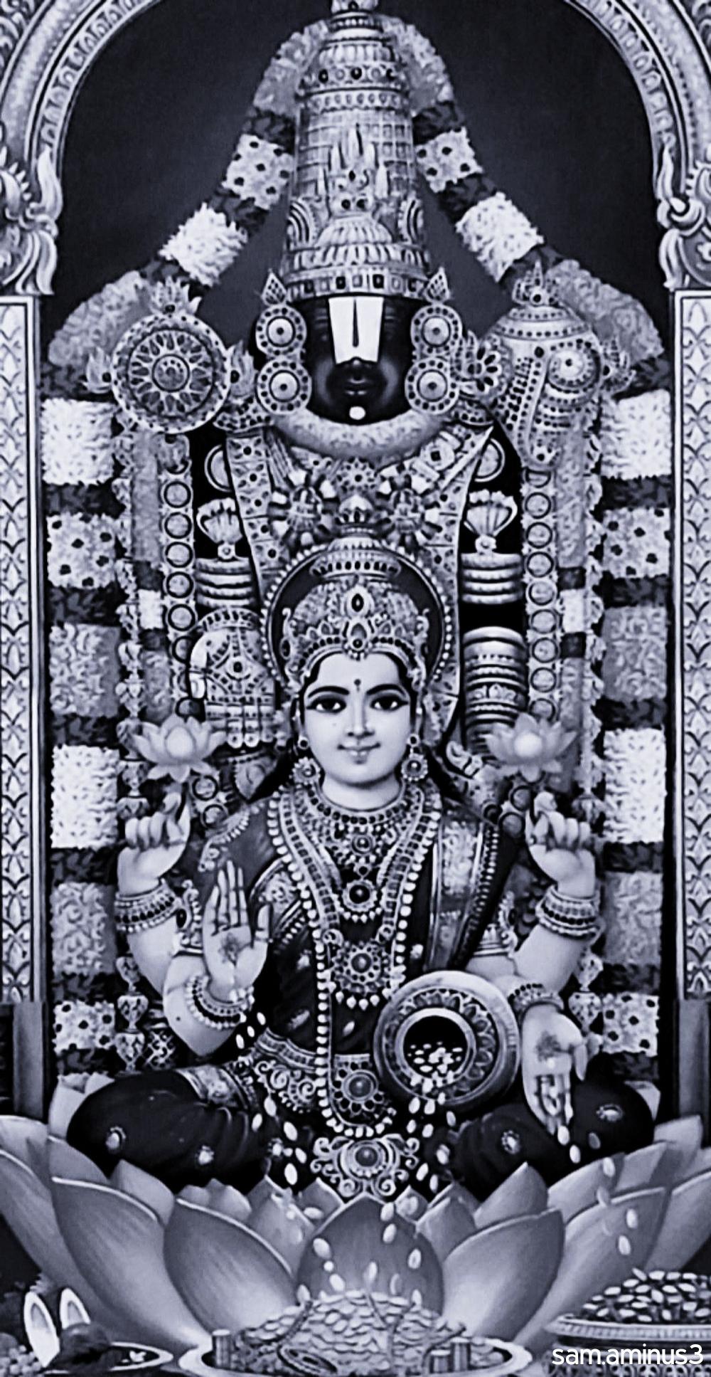 Lord Balaji and Mahalakshmi