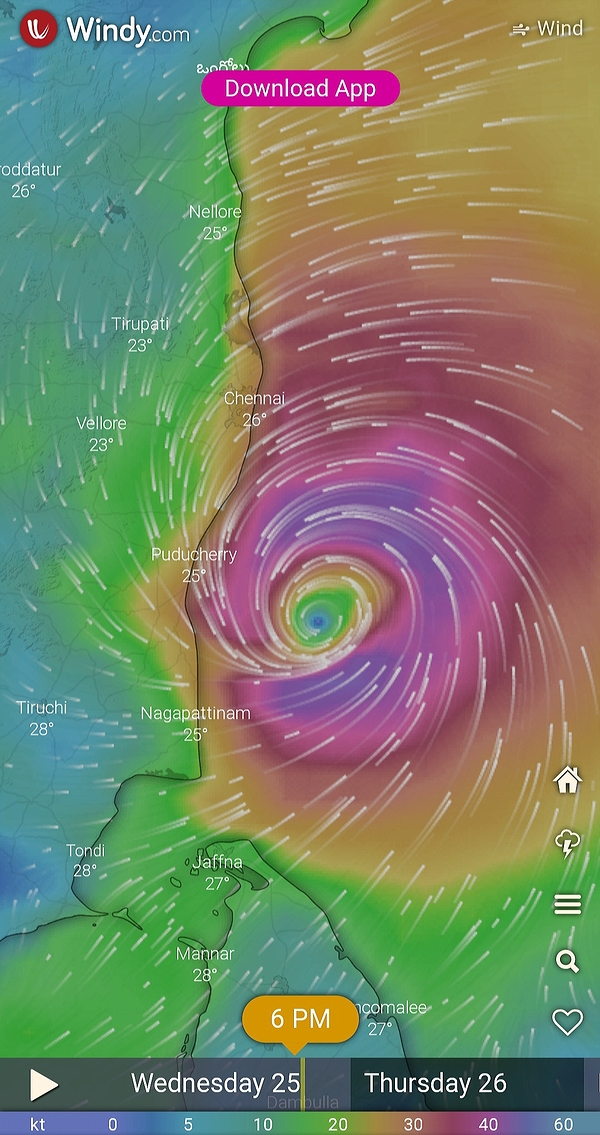 Nivar cyclonic storm